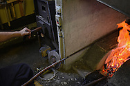 Japanese Sword Smith, Muneyasu, working at his workshop. Saitama, Japan
