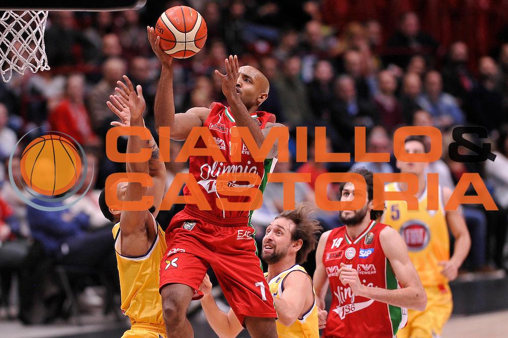 Richard Ricky Hickman<br /> EA7 Emporio Armani Olimpia Milano - Fiat Auxilium Torino<br /> Milano, 05/03/2017<br /> Lega Basket Serie A 2016/2017<br /> Foto Ciamillo - Castoria
