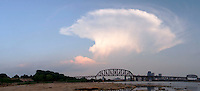Panoramic of Cloud over Falls of the Ohio and Louisville