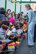 """22-11-2016 ENSCHEDE - Queen Maxima visit Tuesday November 22 the """"Digital Workshop"""" in Hangar 11 at Airport Twente. Digital Workshop is a two-day initiative from Google Netherlands, Netherlands Qredits Microfinance and municipalities to digital skills among entrepreneurs stimuleren.COPYRIGHT ROBIN UTRECHT <br /> <br /> 22-11-2016  ENSCHEDE - Koningin Maxima bezoekt dinsdagmiddag 22 november de 'Digitale Werkplaats' in Hangar 11 op Vliegveld Twente. De Digitale Werkplaats is een tweedaags initiatief van Google Nederland, Qredits Microfinanciering Nederland en gemeenten om digitale vaardigheden bij ondernemers te stimuleren.COPYRIGHT ROBIN UTRECHT"""