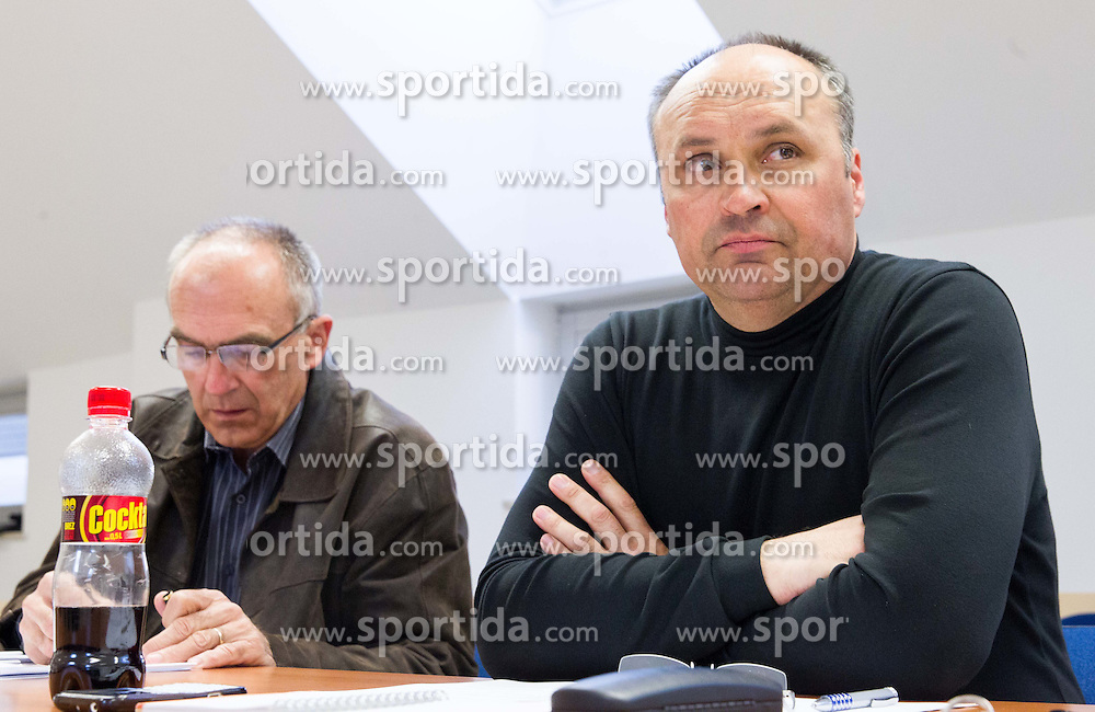 Viktor Vauhnik and Janez Dekleva during meeting of Executive Committee of Ski Association of Slovenia (SZS) on March 10, 2014 in SZS, Ljubljana, Slovenia. Photo by Vid Ponikvar / Sportida