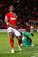 Marvin Sordell of Charlton Athletic shows his frustration during the Sky Bet Championship match at The Valley, London<br /> Picture by David Horn/Focus Images Ltd +44 7545 970036<br /> 15/04/2014