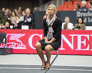 Sandra Klemenschits of Austria retires from professional tennis during the semi finals of the WTA Generali Ladies Linz Open at TipsArena, Linz<br /> Picture by EXPA Pictures/Focus Images Ltd 07814482222<br /> 15/10/2016<br /> *** UK &amp; IRELAND ONLY ***<br /> <br /> EXPA-REI-161015-5018.jpg