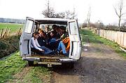 Guys in Van, Lee Hill, High Wycombe, UK, 1980s.