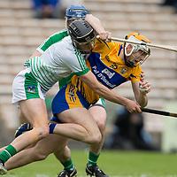 Clare's Aaron Cunningham V Limerick's goalie Nickie Quaid