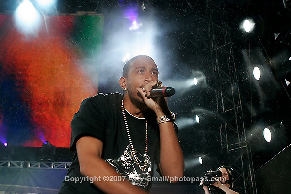 "Chris ""Ludacris"" Bridges performing at Giant's Stadium in East Rutherford New Jersey on June 3, 2007 during Hot 97's Summerjam 2007..."