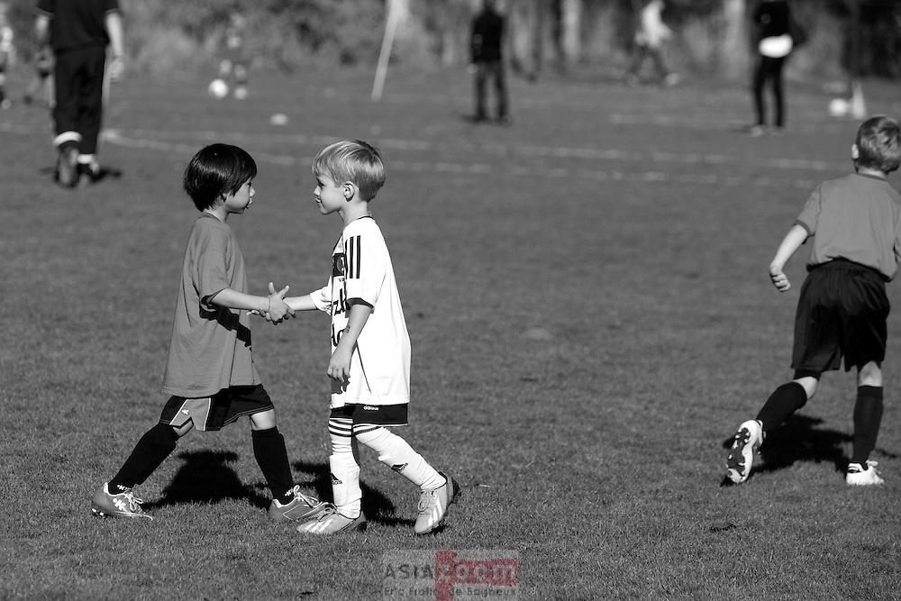 Match de l'école de Football du Vannes Olympic Club a Vannes