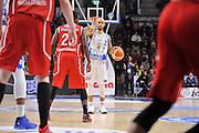 DESCRIZIONE : Sassari LegaBasket Serie A 2015-2016 Dinamo Banco di Sardegna Sassari - Giorgio Tesi Group Pistoia<br /> GIOCATORE : David Logan<br /> CATEGORIA : Palleggio Schema Mani<br /> SQUADRA : Dinamo Banco di Sardegna Sassari<br /> EVENTO : LegaBasket Serie A 2015-2016<br /> GARA : Dinamo Banco di Sardegna Sassari - Giorgio Tesi Group Pistoia<br /> DATA : 27/12/2015<br /> SPORT : Pallacanestro<br /> AUTORE : Agenzia Ciamillo-Castoria/C.Atzori