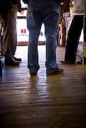 Original floors at Buchanan's Store in Mason, NC
