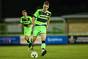 Forest Green Rovers Sam Hendy(4) plays the ball forward during the FA Youth Cup match between U18 Forest Green Rovers and U18 Cheltenham Town at the New Lawn, Forest Green, United Kingdom on 29 October 2018.
