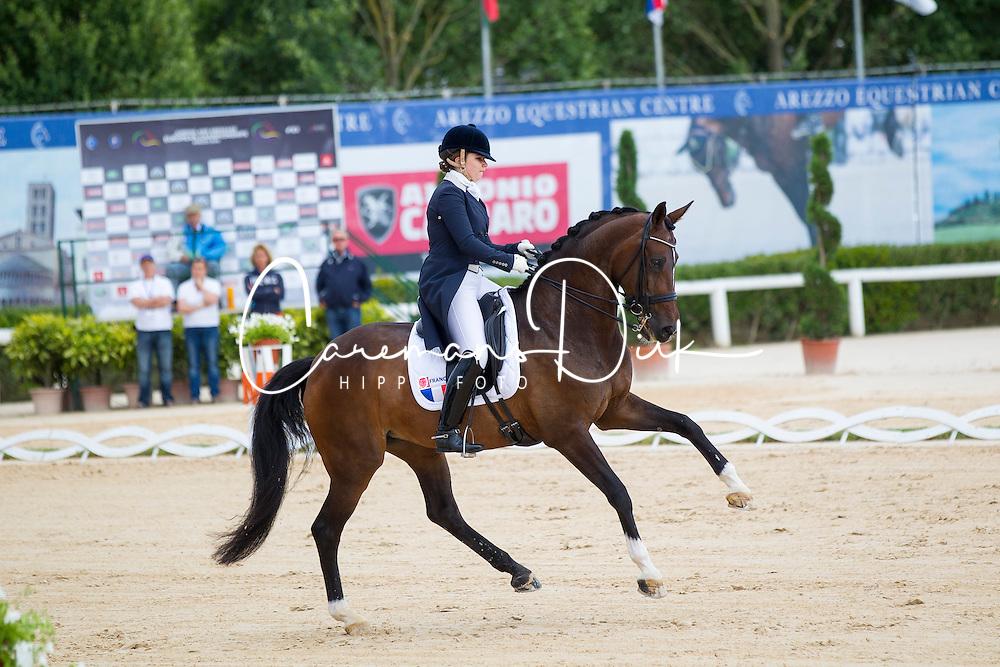 Aubry Milena (FRA) - Uline<br /> European Championships Dressage Junior and Young Riders 2014<br /> © Hippo Foto - Leanjo de Koster
