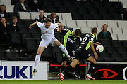 Milton Keynes Dons defender Paul Downing (23) battles for the ball during the EFL Sky Bet League 1 match between Milton Keynes Dons and Bury at stadium:mk, Milton Keynes, England on 27 September 2016. Photo by Dennis Goodwin.