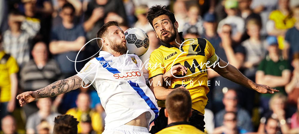 (L-R) *Tim Matavz* of Vitesse, *Pablo Mari Villar* of NAC Breda