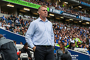 Brentford first team coach Dean Smith during the EFL Sky Bet Championship match between Brighton and Hove Albion and Brentford at the American Express Community Stadium, Brighton and Hove, England on 10 September 2016. Photo by Bennett Dean.