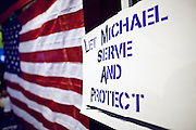 "Sept. 19 - PHOENIX, AZ: A sign supporting the DREAM Act in Phoenix Sunday night. About 30 people met in front of US Sen. John McCain's office in Phoenix Sunday night to demonstrate in support of the DREAM Act, which is scheduled to be debated in the US Senate on Tuesday, Sept 21. The Development, Relief and Education for Alien Minors Act (The ""DREAM Act"") is a piece of proposed federal legislation in the United States that was introduced in the United States Senate, and the United States House of Representatives on March 26, 2009. This bill would provide certain illegal immigrant students who graduate from US high schools, who are of good moral character, arrived in the U.S. as minors, and have been in the country continuously for at least five years prior to the bill's enactment, the opportunity to earn conditional permanent residency. In the early part of this decade McCain supported legislation similar to the DREAM Act, but his position on immigration has hardened in the last two years and he no longer supports it. The protesters, mostly area students, marched and drilled to show their support for the US military and then held a candle light vigil.   Photo by Jack Kurtz"