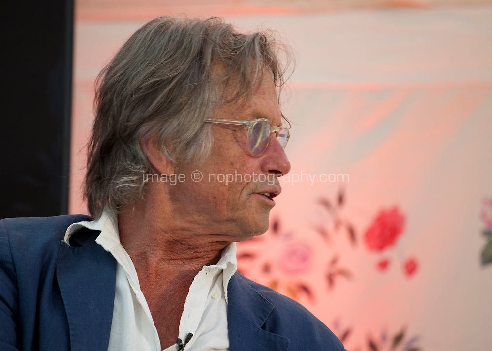 Writer and director Bruce Robinson in interview with Dave Fanning at the Dalkey Book Festival, Dalkey, County Dublin, Ireland, Friday 16th June 2017