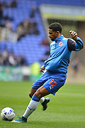 Reading's Garath McCleary waming up before the Sky Bet Championship match between Reading and Charlton Athletic at the Madejski Stadium, Reading, England on 17 October 2015. Photo by Mark Davies.