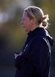 NEWPORT, WALES - Tuesday, November 6, 2018: Wales' manager Jayne Ludlow during a training session at Dragon Park ahead of two games against Portugal. (Pic by Paul Greenwood/Propaganda)
