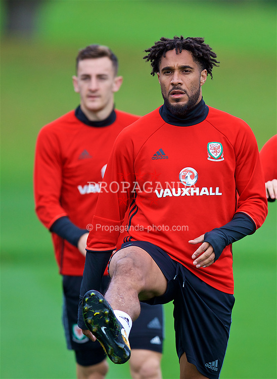 CARDIFF, WALES - Wednesday, October 4, 2017: Wales' captain Ashley Williams during a training session at the Vale Resort ahead of the 2018 FIFA World Cup Qualifying Group D match against Georgia. (Pic by David Rawcliffe/Propaganda)