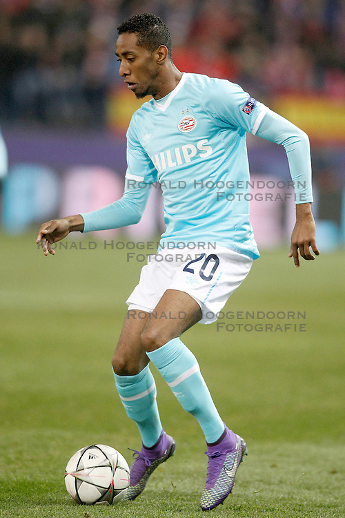 15-03-2016 ESP, UEFA CL, Atletico Madrid - PSV Eindhoven, Madrid<br /> PSV Eindhoven's Joshua Brenet // during the UEFA Champions League Round of 16, 2nd Leg match between Atletico Madrid and PSV Eindhoven at the Estadio Vicente Calderon in Madrid, Spain on 2016/03/15. <br /> <br /> ***NETHERLANDS ONLY***