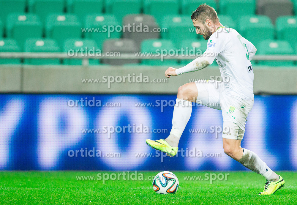 Marko Roskar of Zavrc during football match between NK Olimpija and NK Zavrc in 8th Round of Prva liga Telekom Slovenije 2014/15, on September 13, 2014 in SRC Stozice, Ljubljana, Slovenia. Photo by Vid Ponikvar  / Sportida.com