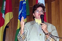 Dilma Rousseff durante o congresso Estadual do PDT em 29/05/1999 - Auditório do Diretório Regional do PDT, em Porto Alegre. FOTO: Sérgio Néglia