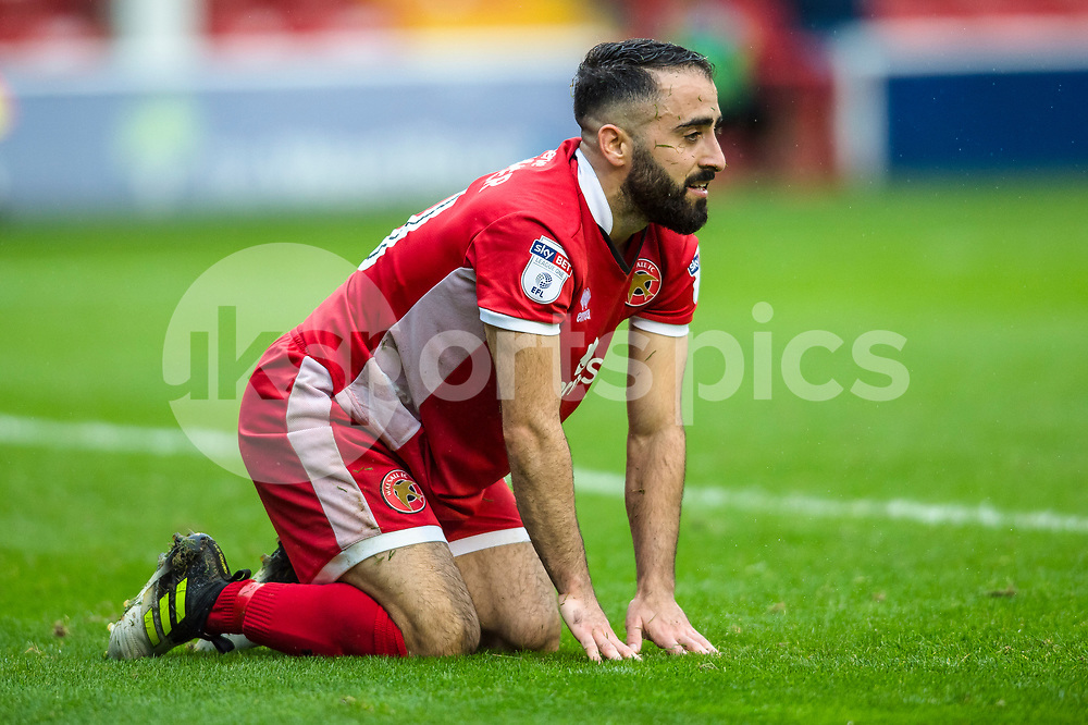 Erhun Öztumer of Walsall after going close during the EFL Sky Bet League 1 match between Walsall and Shrewsbury Town at the Banks's Stadium, Walsall, England on 7 October 2017. Photo by Darren Musgrove.