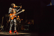 """Esperanza Spalding on stage at Celebrate Brooklyn. Her set list was from her new series """"Emily's D+Evolution."""""""
