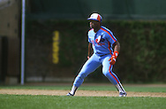 CHICAGO - APRIL 1986:  Tim Raines of the Montreal Expos runs the bases during an MLB game versus the Chicago Cubs at Wrigley Field in Chicago, Illinois.  Raines played for the Expos from 1979-1990. (Photo by Ron Vesely)  Subject:  Tim Raines