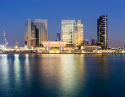 View of new Sowwah Square property development on Al Maryah Island in Abu Dhabi United Arab Emirates