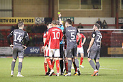 15 Ryan Wintle for Crewe Alexander is booked  during the EFL Sky Bet League 2 match between Crewe Alexandra and Lincoln City at Alexandra Stadium, Crewe, England on 26 December 2018.