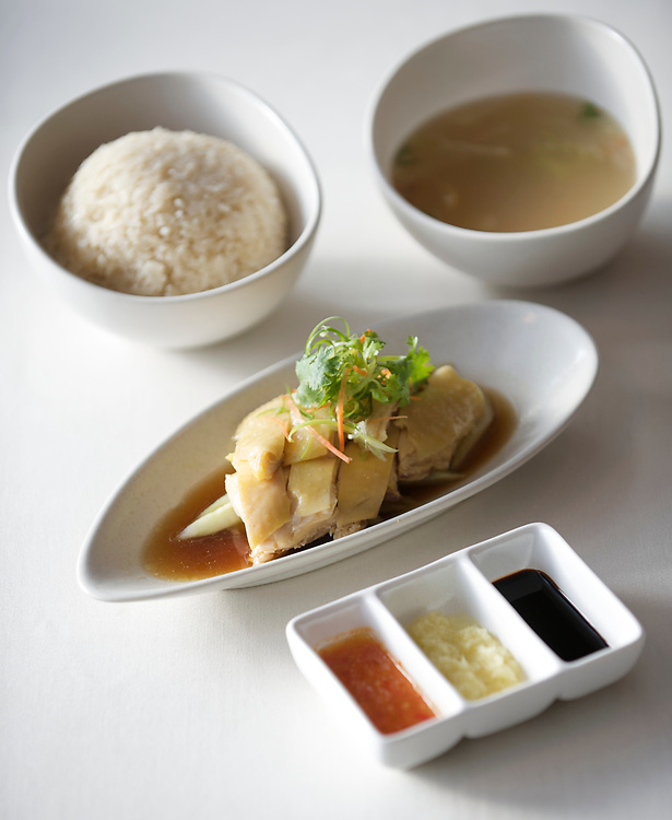 06 July 2009, Macau, China --- Hainanese Chicken Rice. Photo by Victor Fraile --- Image by © Victor Fraile/Corbis