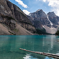 Moraine Lake, in Banff National Park, Alberta, Canada.