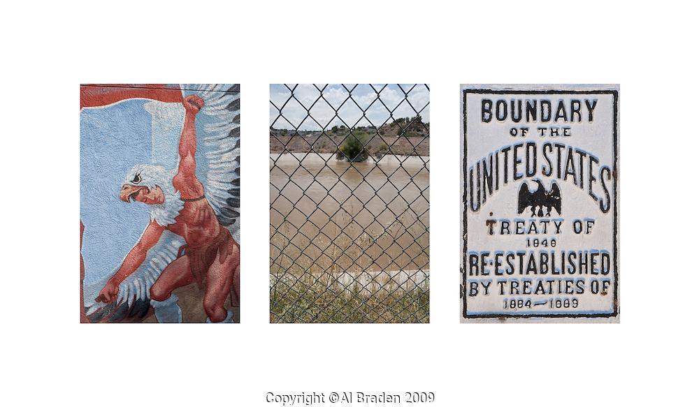 Chamizal Mural and Boundary at El Paso/Cd. Juarez