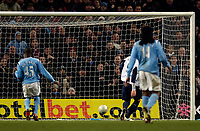 Photo: Jed Wee.<br /> Manchester City v West Ham United. The FA Cup. 20/03/2006.<br /> <br /> West Ham's Dean Ashton taps into an empty net for his second goal.