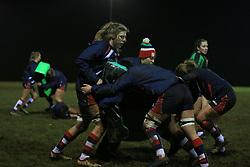Bristol Ladies go through drills in the warm up - Mandatory by-line: Paul Roberts/JMP - 13/01/2018 - RUGBY - Cleve RFC - Bristol, England - Bristol Ladies v Firwood Waterloo Ladies - Tyrrells Premier 15s