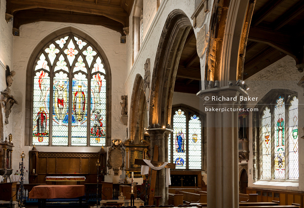 The interior of St Olave's Church on the corner of Seething Lane in the City of London, on 30th May 2018, in London, England.