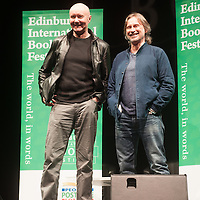 Novelist Irvine Welsh and actor Robert Carlyle at The Usher Hall, Edinburgh. 10th April 2016