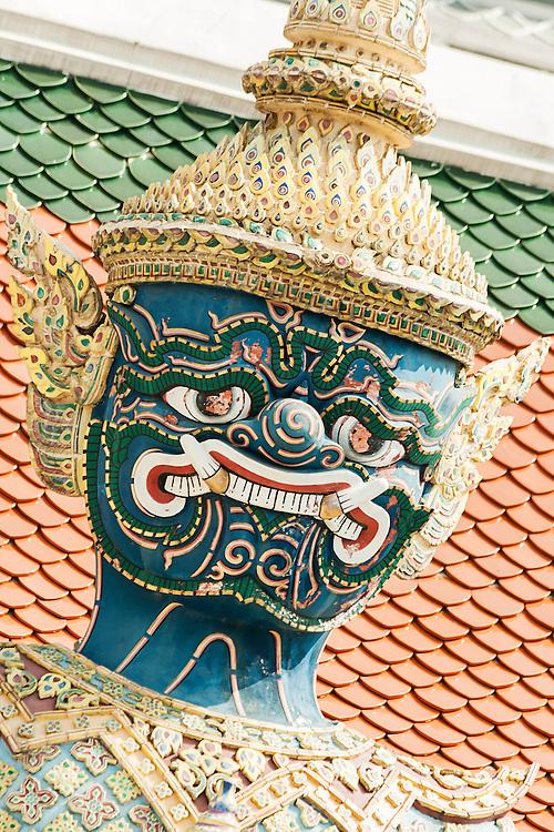 Giant guardian at the Royal Palace in Bangkok, Thailand