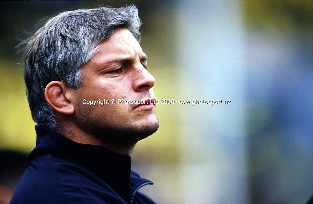 Todd Blackadder, international rugby union match between the All Blacks and Australia at Athletic Park, Wellington, on August 5 2000. Photo: PHOTOSPORT