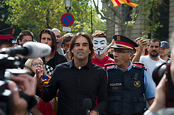 October 1, 2018 - Barcelona, Catalonia, Spain - Manifestation of the 1st anniversary of the 1st of October. (Credit Image: © Pierre Berthuel/Le Pictorium Agency via ZUMA Press)