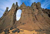 April 2001, Ahaggar, Algeria --- Rock Formation in the Sahara Desert --- Image by © Owen Franken/CORBIS