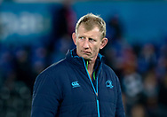 Leinster's Head Coach Leo Cullen during the pre match warm up<br /> <br /> Photographer Simon King/Replay Images<br /> <br /> Guinness PRO14 Round 19 - Ospreys v Leinster - Saturday 24th March 2018 - Liberty Stadium - Swansea<br /> <br /> World Copyright © Replay Images . All rights reserved. info@replayimages.co.uk - http://replayimages.co.uk