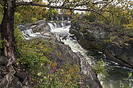 Hog's Back Falls and the Rideau River in Ottawa, Ontario, Canada.  Photographed from one of the viewpoints in Hog's Back Park.