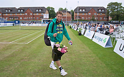 LIVERPOOL, ENGLAND - Sunday, June 23, 2019: Paulo Lorenzi (ITA) walks off court after the Men's Final on Day Four of the Liverpool International Tennis Tournament 2019 at the Liverpool Cricket Club. (Pic by David Rawcliffe/Propaganda)