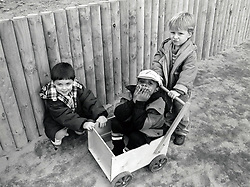 Children at Eastglade infants school, Nottingham UK 1992.  The school closed in 2007