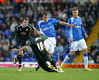Photo: Dave Linney.<br />Birmingham City v Plymouth Argyle. Coca Cola Championship. 02/12/2006. Plymouth's Gary Swayer(L) slides in to tackle  Stephen Clemence.