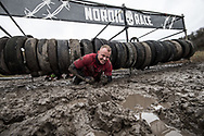 Nordic Race contestants battle it out across the obstacle course during the muddy Copenhagen event