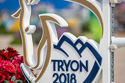 Tryon Logo<br /> Tryon - FEI World Equestrian Games™ 2018<br /> FEI World Individual Jumping Championship<br /> Third cometition - Round A<br /> 3. Qualifikation Einzelentscheidung 1. Runde<br /> 23. September 2018<br /> © www.sportfotos-lafrentz.de/Stefan Lafrentz