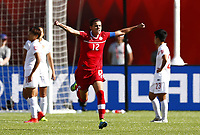 Fotball<br /> VM kvinner 2015<br /> Kina v Canada 0:1<br /> Foto: imago/Digitalsport<br /> NORWAY ONLY<br /> <br /> Canada s Christine Sinclair celebrates after scoring a penalty kick during a Group A match between China and Canada at the 2015 FIFA Women s World Cup finals in the Commonwealth Stadium in Edmonton, Canada, June 6, 2015. China lost 0-1.